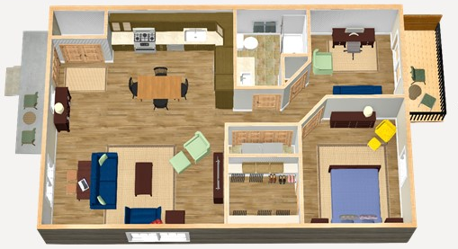 Brookside Cottages  layout overview